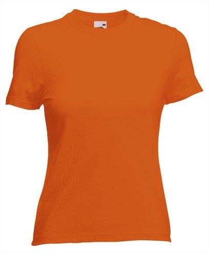 Dames Tshirt oranje Fruit of the Loom